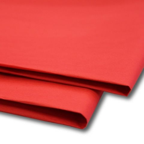 Red Tissue Wrapping Paper ~ Small Sheets ~ 50cm x 37.5cm